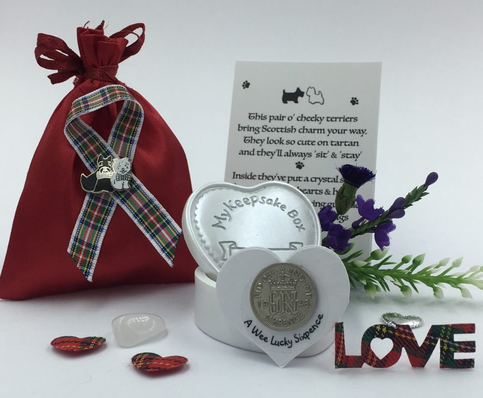 Scottie & Westie Keepsake Gift Set