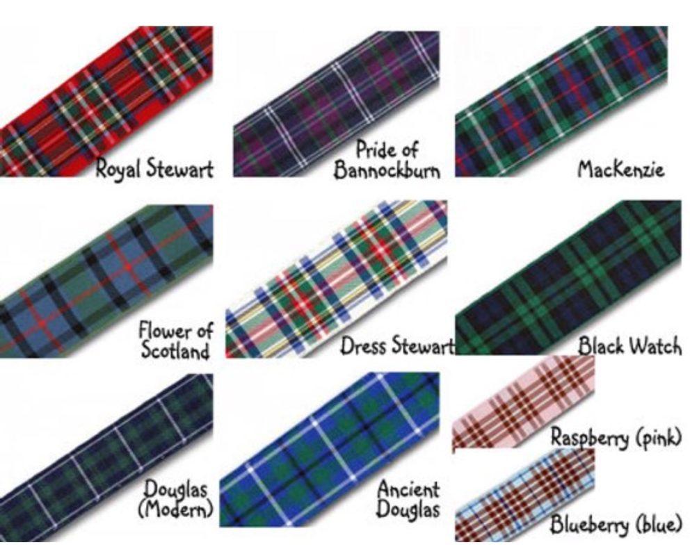 Tartan ribbon options