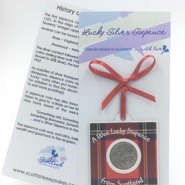 Lucky Silver Sixpence | Scottish Keepsakes