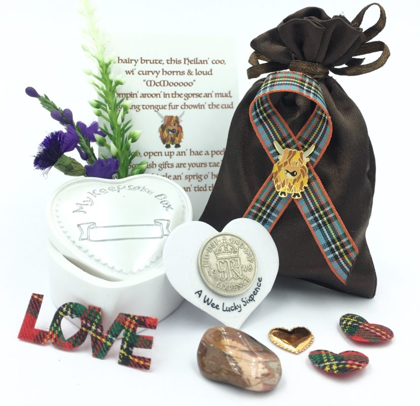 Highland Cow Keepsake Gift Set
