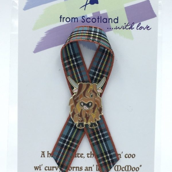 Large Highland Coo Lapel Pin