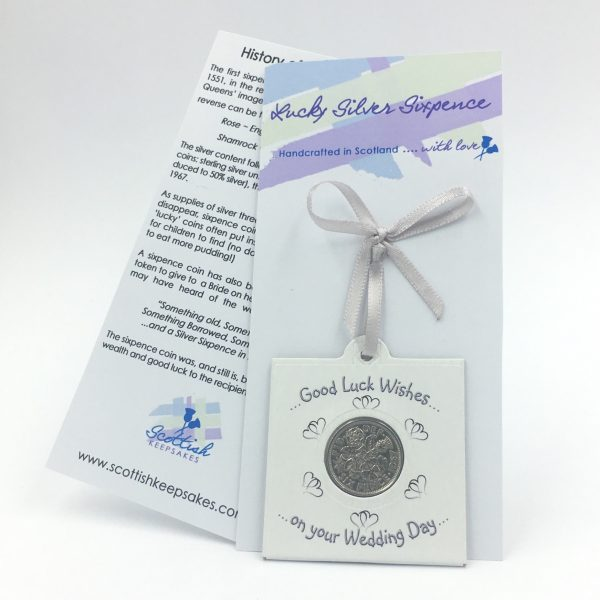 Lucky sixpence - Bride & Groom