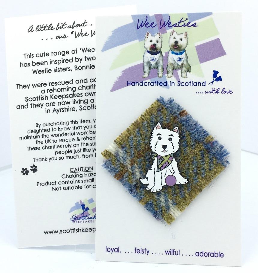 Harris tweed - sage/blue mix
