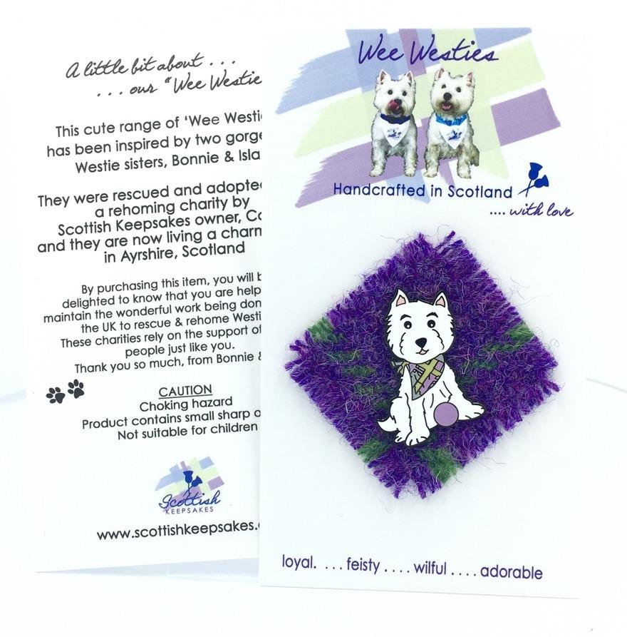 Harris tweed - purple mix